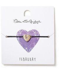 Miss Selfridge - February Heart Birthstone Wristwear - Lyst