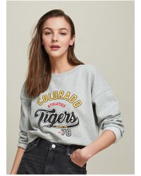 Miss Selfridge - Grey Colorado Sweatshirt - Lyst
