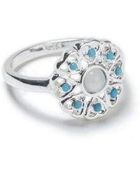 Miss Selfridge - Blue Flower Ring - Lyst
