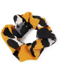 Miss Selfridge - Mustard Scrunchie - Lyst