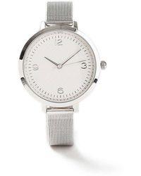 Miss Selfridge - Diamond Mesh Watch - Lyst