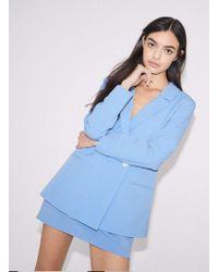 Miss Selfridge   Blue Double Breasted Blazer   Lyst