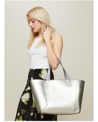 Miss Selfridge - Grey Reversible Tote Bag - Lyst