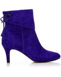 Moda In Pelle - Latinna Purple Suede - Lyst