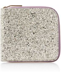 Victoria Beckham - Glittered Cotton-canvas Wallet - Lyst