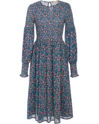 Banjanan - Johanna Floral Cotton Voile Dress - Lyst