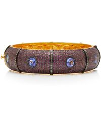 Sanjay Kasliwal - Tanzanite And Ruby Bangle - Lyst