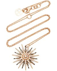 Bee Goddess - Jardin Star 14k Gold Diamond Pendant - Lyst