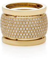 Established - Trio 18k Gold Diamond Ring - Lyst