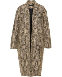 Sally Lapointe - Textured Silk Wool Cocoon Coat - Lyst
