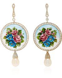 Axenoff Jewellery - Magic Flowers Silver Drop Earrings - Lyst