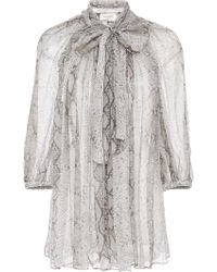 Zimmermann - Corsage Fluted Blouse - Lyst