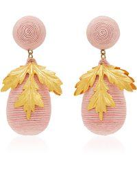 Rebecca de Ravenel - M'o Exclusive Acorn Claudia Gold-tone Drop Earrings - Lyst