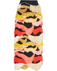 Rachel Comey - Caposhi Fringe Pencil Skirt - Lyst