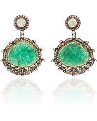 Amrapali - 18k Gold, Emerald And Diamond Earrings - Lyst