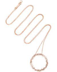 Suzanne Kalan - 18k Rose Gold Diamond Necklace - Lyst