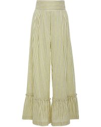 Luisa Beccaria - Striped Wide Leg Trousers - Lyst