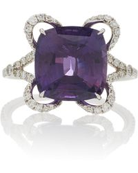 Martin Katz - One-of-a-kind Cushion Cut Purple Sapphire Ring - Lyst