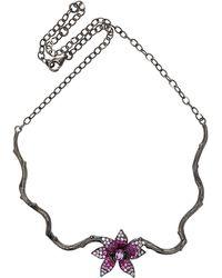 Wendy Yue - Pink Sapphire Flower Choker - Lyst