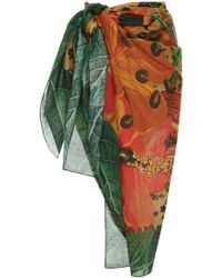 Agua de Coco - Printed Jungle Sarong - Lyst