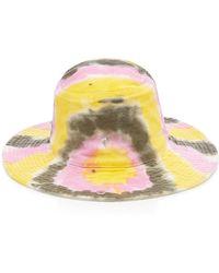Ganni - Tie-dye Cotton Bucket Hat - Lyst