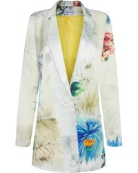 Adriana Iglesias - Floral Silk Satin Boyfriend Jacket - Lyst