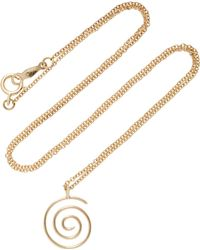 Beaufille - Spiral 14k Gold Necklace - Lyst