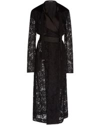 David Koma - Laced Trench Coat - Lyst