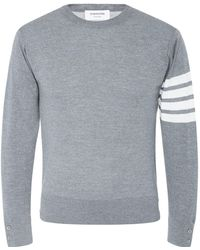 Thom Browne - Striped Sleeve Detail Sweater - Lyst