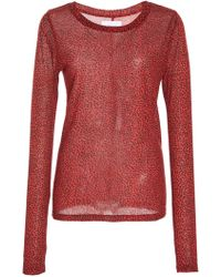 Current/Elliott - The Hallan Leopard Print Top - Lyst
