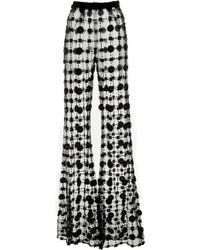 Christian Siriano - Floral Sequin Unlined Trouser - Lyst