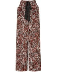 Warm - Medallion Printed Voile Wide-leg Trousers - Lyst