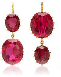 Renee Lewis - Antique Synthetic Ruby Earrings - Lyst