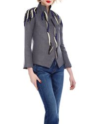 Nadya Shah - Grey Swallow Jacket - Lyst