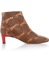Atp Atelier - Clusia Snake-effect Leather Ankle Boots - Lyst