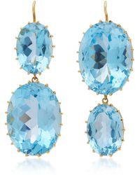 Renee Lewis - 18k Gold And Blue Topaz Earrings - Lyst