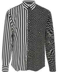 Givenchy - Printed Matte-satin Shirt - Lyst