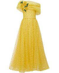 Rodarte - Off-the-shoulder Glitter Tulle Dress - Lyst