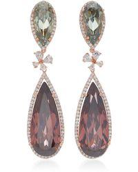 Anabela Chan - Papillon 18k Rose Gold Multi-stone Earrings - Lyst