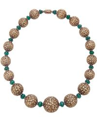 Sanjay Kasliwal - 18k Gold, Emerald And Diamond Necklace - Lyst