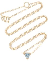 Shahla Karimi - Trillion 14k Gold Aquamarine Necklace - Lyst