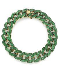 Sydney Evan - Emerald Pave Link Bracelet - Lyst