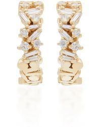 Suzanne Kalan - 18k Yellow Gold Hoop Earrings - Lyst