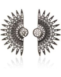 Lulu Frost - Beacon Silver-plated Brass And Glass Stone Studs - Lyst