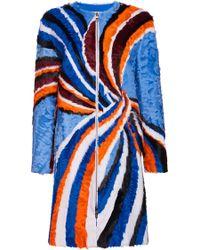 Emilio Pucci - Zippped Front Fur Coat - Lyst