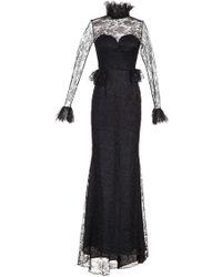 Djaba Diassamidze - Ketuta Lace Long Sleeve Dress - Lyst