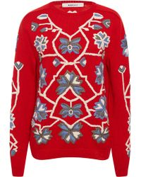 MARCH11 - Red Aliona Embroidered Sweater - Lyst