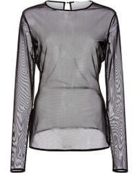Oscar de la Renta - Long Sleeve Bodysuit - Lyst