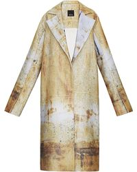 Bevza Printed Oversized Coat - Metallic