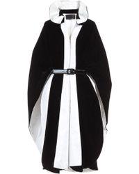 Djaba Diassamidze - Evgenia Velvet Contrast Coat Dress - Lyst